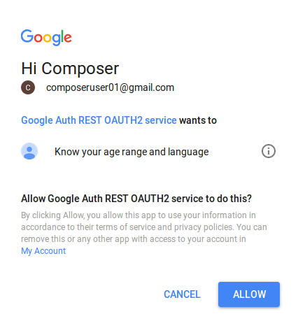 Using Google OAUTH2 0 with a Composer REST server | Hyperledger Composer